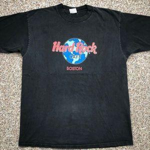 VTG 90's Hard Rock Cafe Boston t-shirt XL USA Made